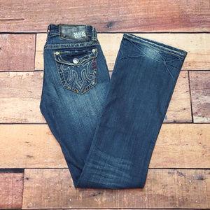MEK DNM Mazaltan Bootcut Jeans Size 27 / 34 Dark